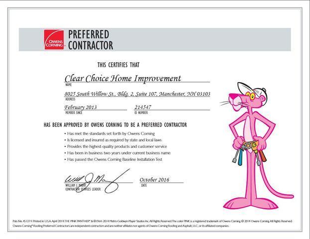 Preferred Contractor Certification